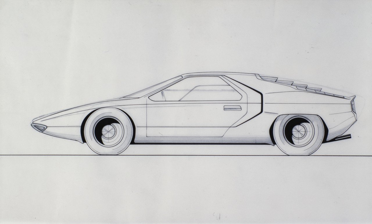 1968_Bertone_Alfa-Romeo_Carabo_Technical-Drawing