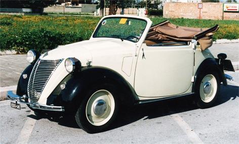 Fiat – 500 A Cabriolet Montescani