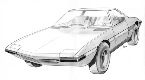 1971_Ghia_DeTomaso_1600_Design-Sketch