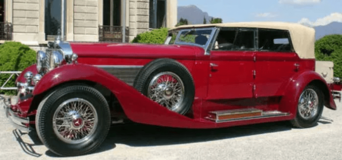 The Castagna Mercedes 770 Grosser of 1931. Ercole Castagna designed the body of this car at the request of Benito Mussolini, who wanted to impress Paul von Hindenburg, the President of Germany.